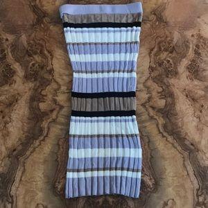 Topshop Ribbed Midi Skirt US 6